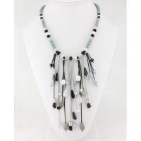 collier plastron bois-perles